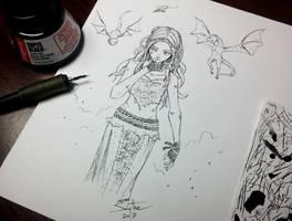 Inktober Day 14 - Fierce (Daenerys) by AdamScythe