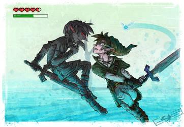 Dark Link vs Link by AdamScythe