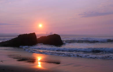 Lincoln City Sunset 3 by Cynnalia-Stock