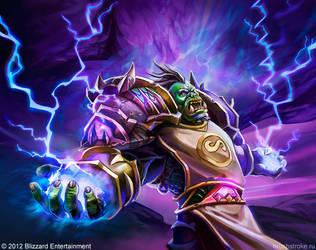 WoW TCG: Orc Shaman by AppleSin