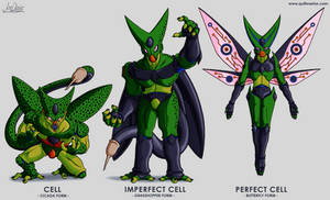 Character Design - Cell All Forms by The-Quill-Warrior