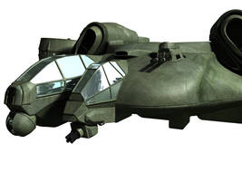 C-21 Dragon Dropship - WIP 3 by MandesDesign