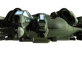 C-21 Dragon Dropship - WIP 6 by MandesDesign