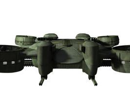 C-21 Dragon Dropship - WIP 7 by MandesDesign