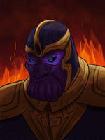 Thanos Portrait  by DevinQuigleyArt