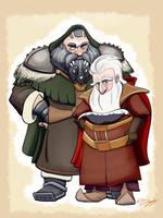 Balin and Dwalin, Sons of Fundin by DevinQuigleyArt