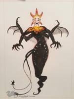 Inktober 2018 Day 8, Star Demon by DevinQuigleyArt