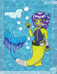 {MerMay2018} - 04- Zoey the friendly Zombie by Numbsoul