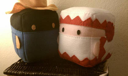 SC: white and black mage by sugarcubeanimals