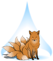 kitsune with 9 tails by niconosave