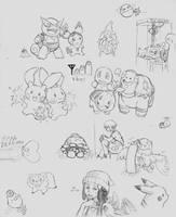 Pokemon sketchdump by Momogirl