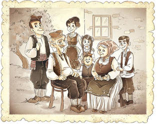 Old Traditional Serbian Family by MarinaVeselinovic