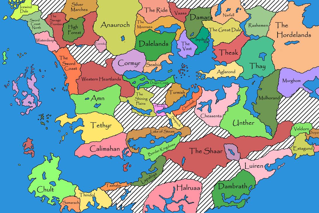 Faerun Political Map | dijkversterkingbas