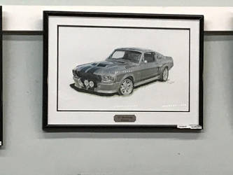Generation 1 1967 Mustang GT500 Eleanor (painting) by TaionaFan369