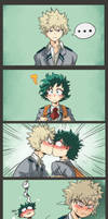Kiss the nerd - BakuDeku by Bluechui