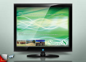 Senwes Vision screen saver by Infoworks