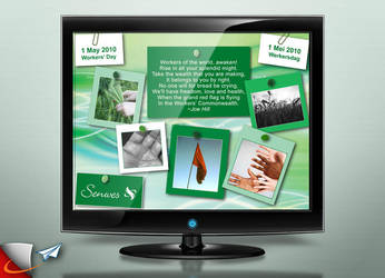 Senwes Wokers day screen saver by Infoworks