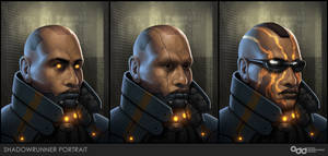 Shadowrunner Portraits by SilentIvo