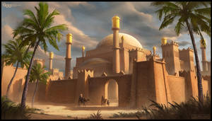 Middle Eastern Citadel by SilentIvo