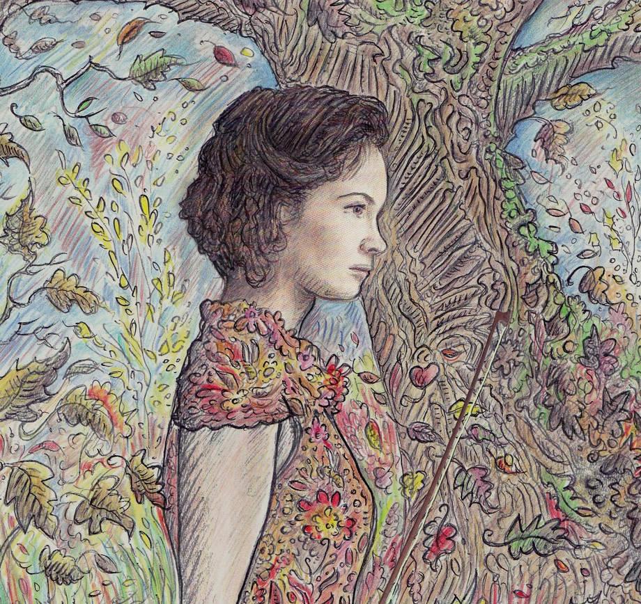 The autumnal dress (Hilary Hahn)  details by ERWANLEGAL