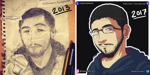 4 Year Art Comparison by GZ-Iconic-Ent