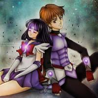 Sailor Saturn + Saturn Knight by reirei18
