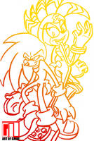 Knuckles and Shade by CattishDawg