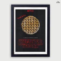 Stranger Things Minimalist Poster by LilouFranchise