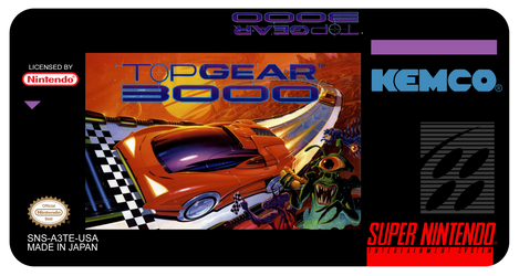 Label SNES - Top Gear 3000 Remastered by SSJINS