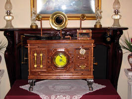 Steampunk CD player by Zuntaras