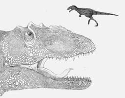 Eustreptospondylus by briankroesch