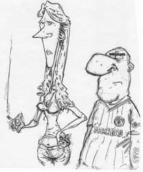 Woman and Chelsea fan by wufus