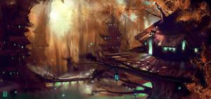 Elven Village by ArtofTy