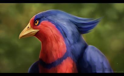 Cheza the birdy bird by Chiakiro