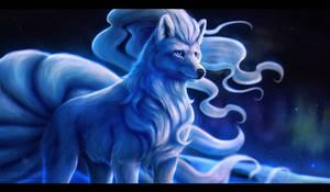Alolan Ninetales by Chiakiro