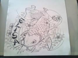 koi fish by tonywave33