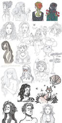 Sketches+Drawings [3/2018] by Kirschpraline