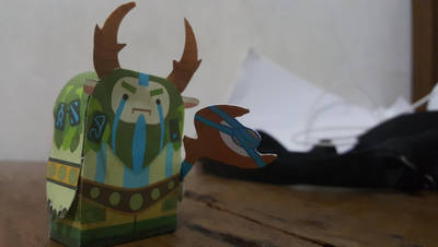 Nature's Prophet Dota 2 paper craft by Searhere