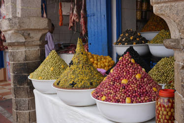 Olives in Essaouira, Marocco by rocksau