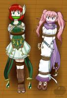 COMMISSION: Priscilla and Serra by Zoudai