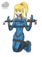 Samus in stocks by Zoudai