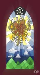 Flying Spaghetti Monster by edgar1975