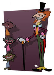 Willy Wonka and Oompa Loompas by edgar1975