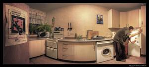 midnight fridge-robbery pano by kihsleek