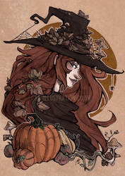 Autumn Witch by RBIllustration