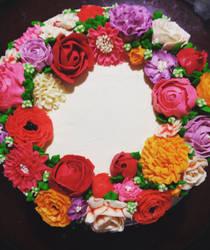 Flower Cake by 00Velvet00Dreams00