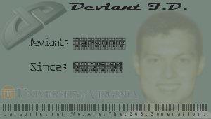 Jarsonic Deviant ID by jarsonic