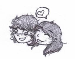Eddy and Iris Doodle by Lykaios-Garou