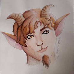 Watercolor Satyr  by wildgracedraws