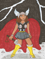 Thunder Goddess by TheMightyLemon